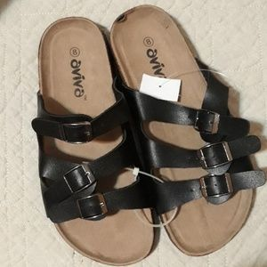 Cork sole sandals size 7 and size 8